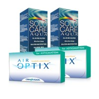 Air Optix Astigmatismo (Cx 3) x2 + Solo Care 360ml x2
